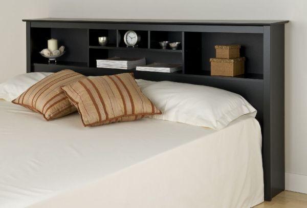 Prepac Black Eastern King Storage Headboard Bsh8445 Furniture Outlet Jeromes Mor