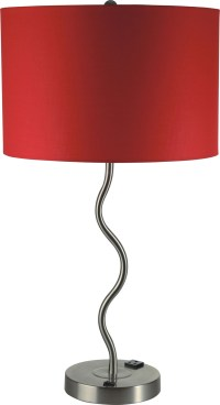 Furniture of America L76224T-RD Table lamp round chrome ...