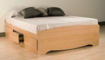 Prepac Maple Queen Platform Storage Bed 6-drawers