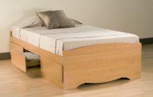 Prepac Maple Twin Platform Storage Bed 3-drawers