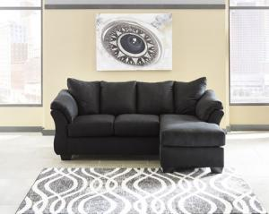 Darcy Black 75008 By Ashley Contemporary Sofa Chaise