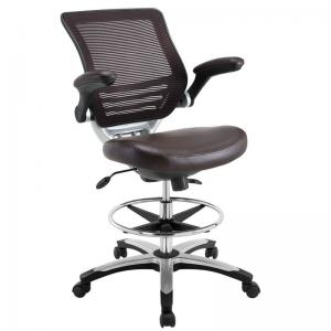 drafting table chairs steel adirondack chair modway edge eei 211 brown ergonomic