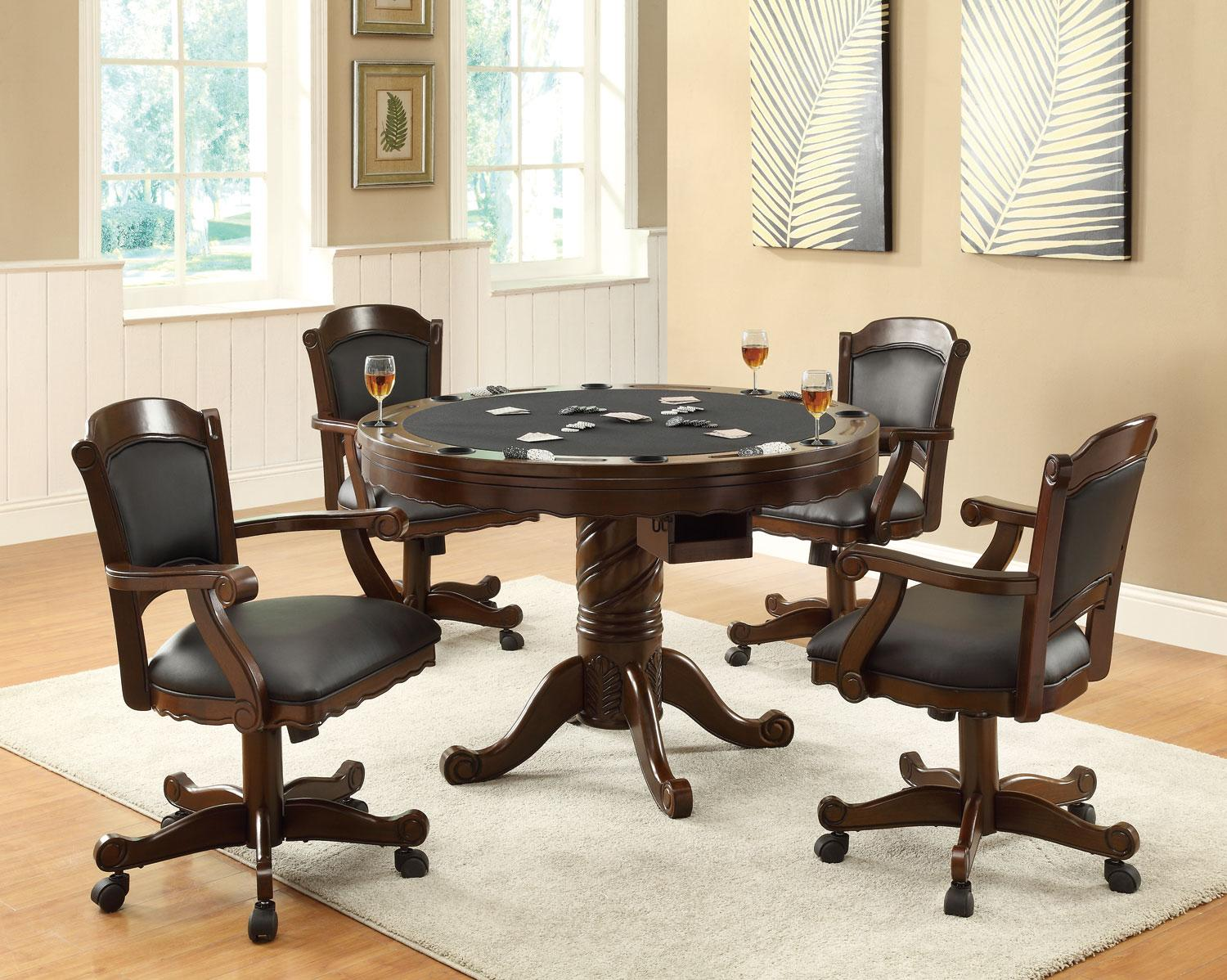 poker table chairs with casters oak tables and furniture outlet bumper pool dining 3 in 1 images products secondary 100871 jpg