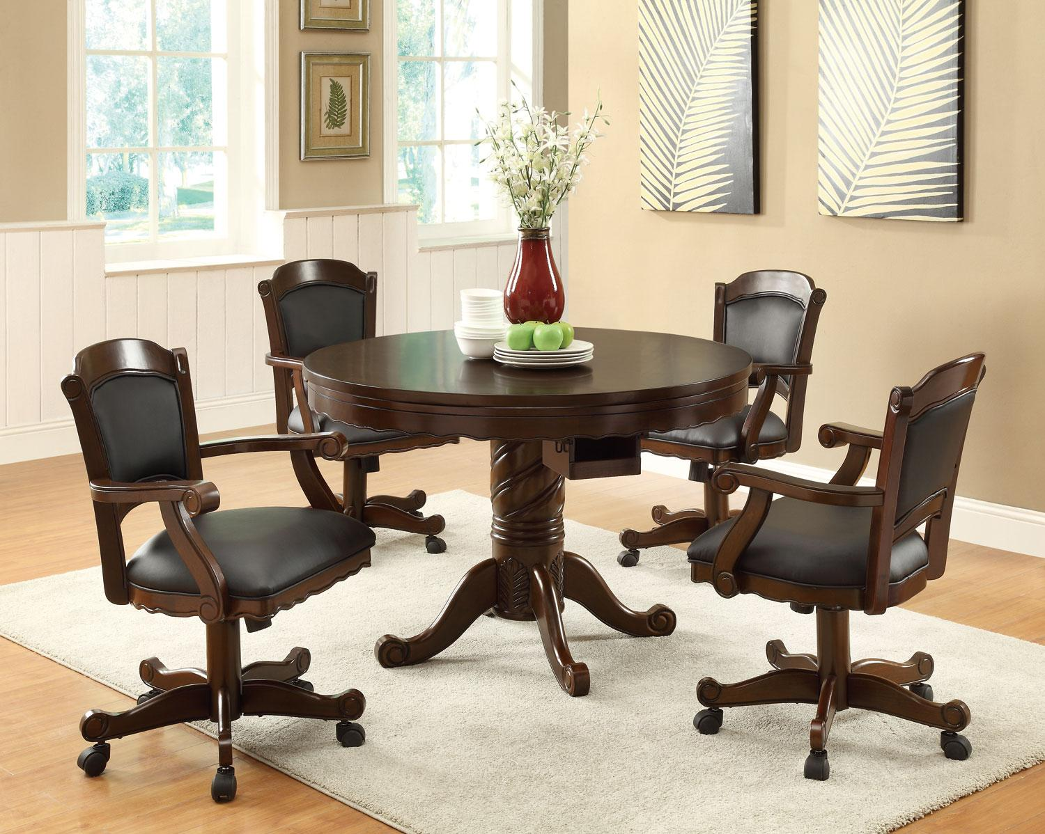 Furniture Outlet Bumper Pool Poker Table Dining Table 3 In 1 Caster Chairs Coaster 100871 100872 Los Angeles Furniture Outlet Bumper Pool Poker Table Dining Table 3 In 1 Caster Chairs Coaster