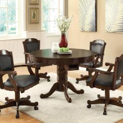 Poker Table Chairs With Casters Diy Ruffled Chair Covers Wedding Furniture Outlet Bumper Pool Dining