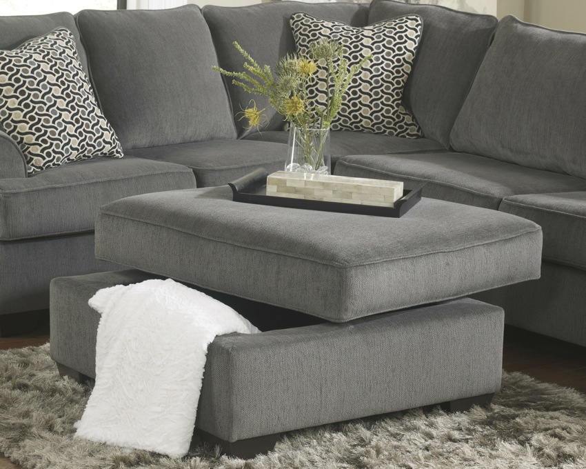 sofa sets for hall sectiona sofas loric 12700 smoke grey sectional living spaces ashley ...