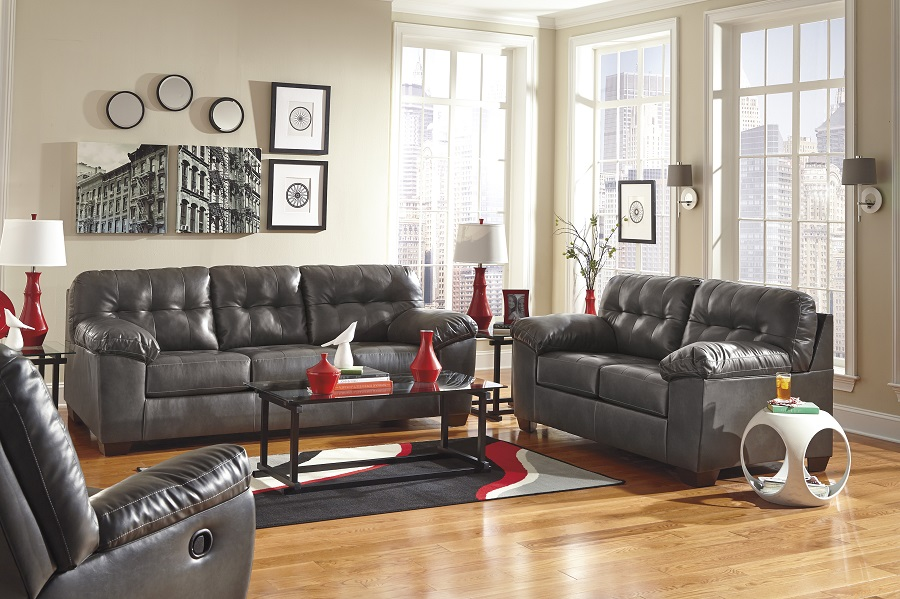 3pc recliner sofa set tyson ashley furniture alliston collection 20102 gray sectional ...