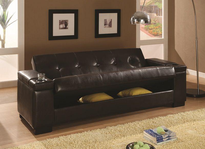 Furniture outlet futon sofa bed Storage futon Coaster