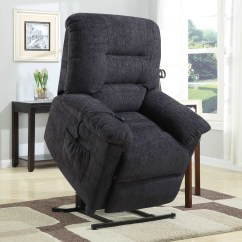 Lift Recliner Chairs Medicare Antique White Wooden Desk Chair Coaster Furniture Foster 601015 Power Grey