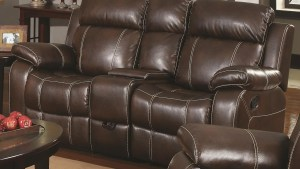 Myleene Collection 603021 Brown Leather Reclining Sofa