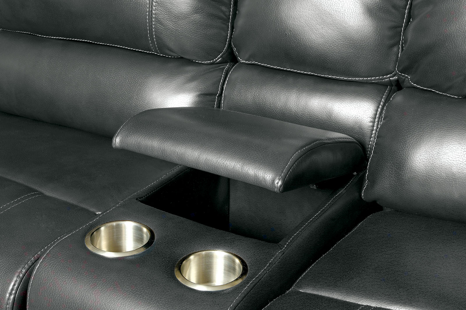 marco gray chaise sofa cushions in bangalore furniture of america 6131gy reclining console