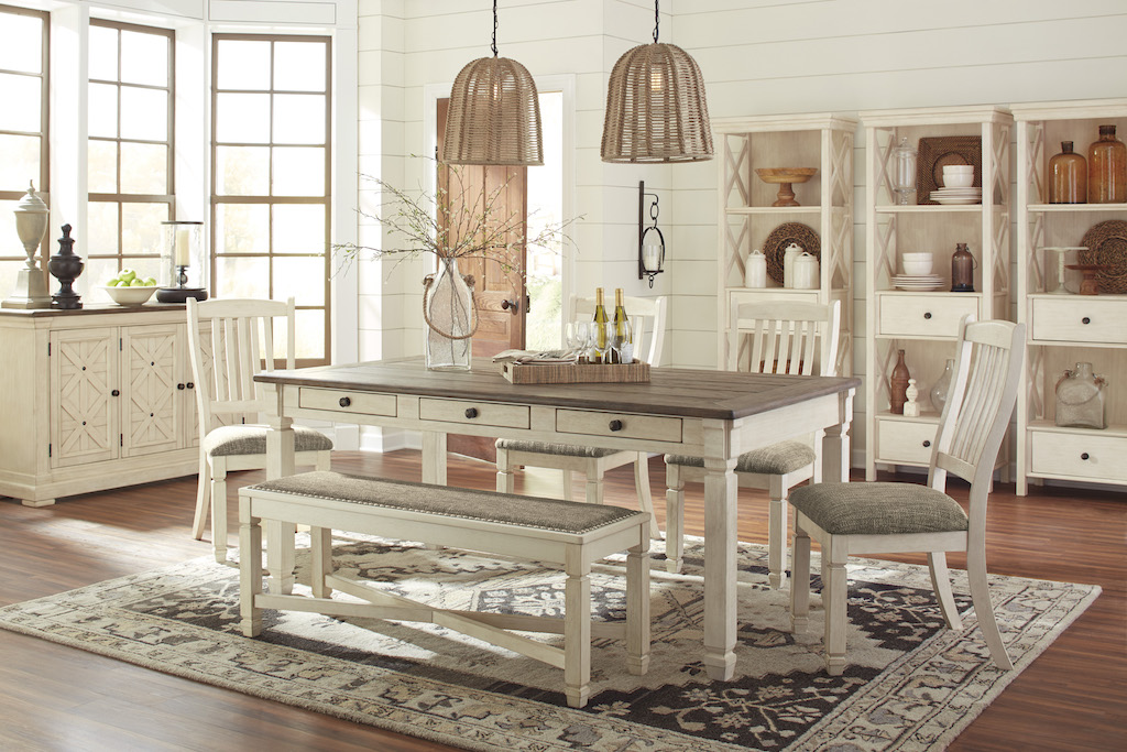 Ashley Bolanburg Collection D647 Dining Room Set