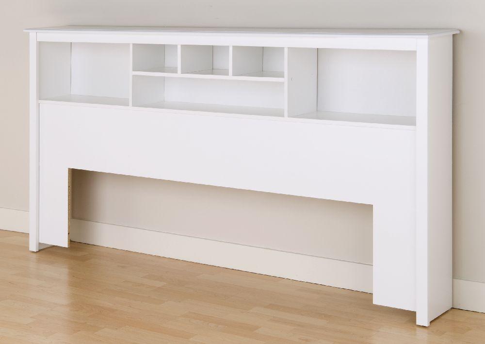 Prepac, White Eastren King Bookcase Headboard WSH8445