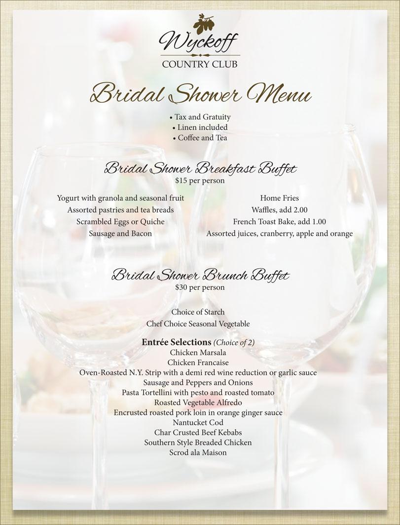 Bridal Shower Menus. bohemian bridal shower menu printable