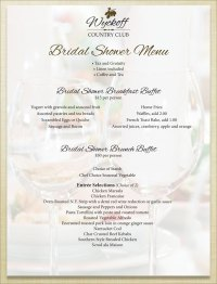 Bridal Shower Menus. bohemian bridal shower menu printable