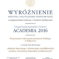 Wyróżnienie na Targach Academia 2016