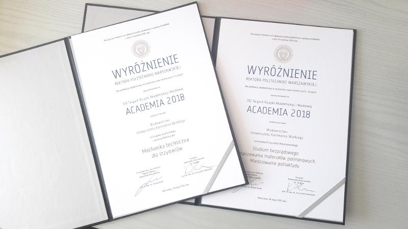 Wyróżnienia Academia 2018!