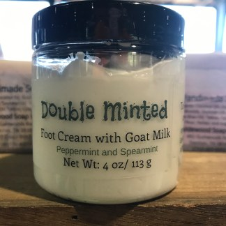 Double Minted Foot Cream with Goat Milk