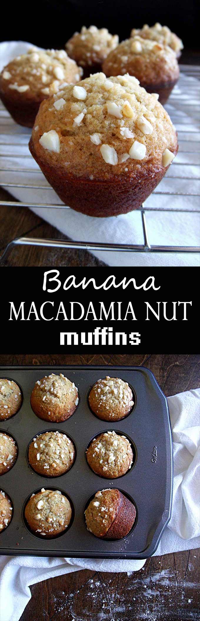 Banana Macadamia Nut Muffin - Inspired by the muffins at Huggo's in Kona, Hawaii!