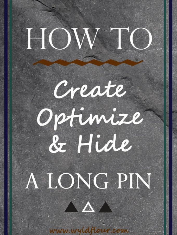 How to Create, Optimize, & Hide a Long Pin Using Photoshop