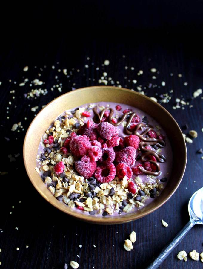 Protein Smoothie Bowl | Protein Shake | Raspberry Nutella | Breakfast | Protein Powder