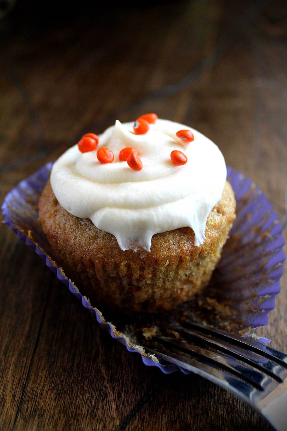 Carrot Cupcakes with Cream Cheese Frosting   Zucchini & Pineapple   Best Recipe   Vegetarian