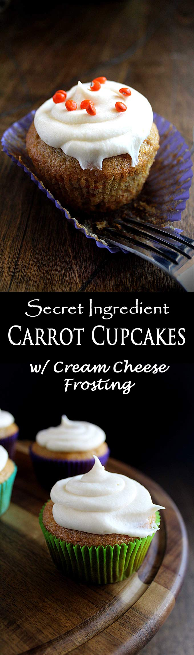 Carrot Cupcakes with Cream Cheese Frosting | Zucchini & Pineapple | Best Recipe | Vegetarian