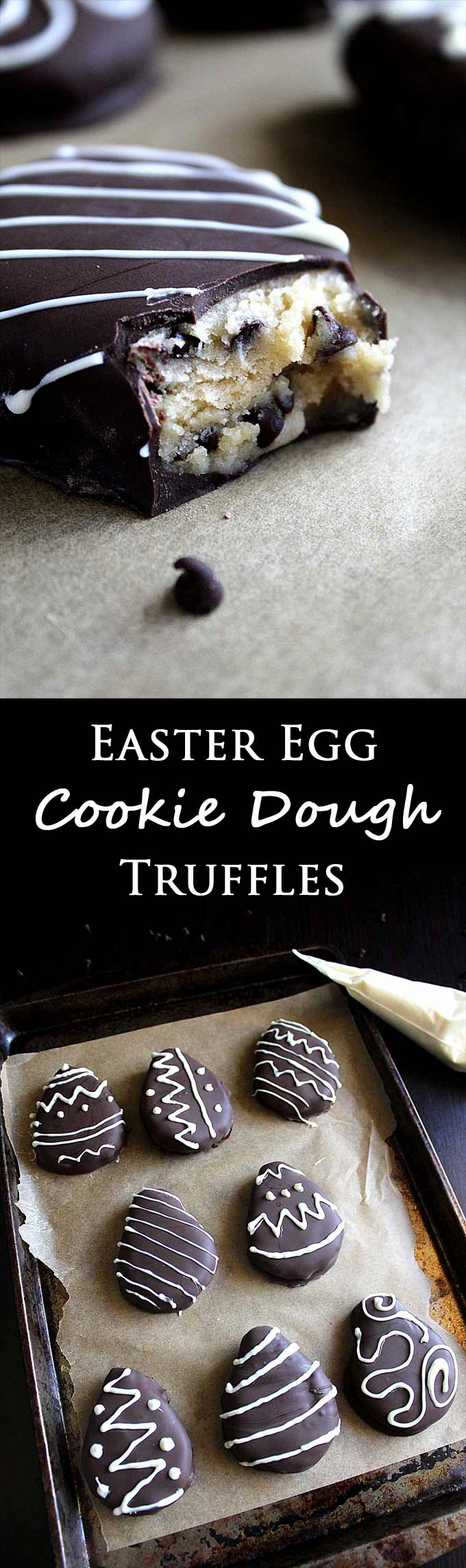 Chocolate Chip Cookie Dough Truffles | Edible Eggless Cookie Dough | Safe to Eat | Cookie Dough Bites | Chocolate Covered