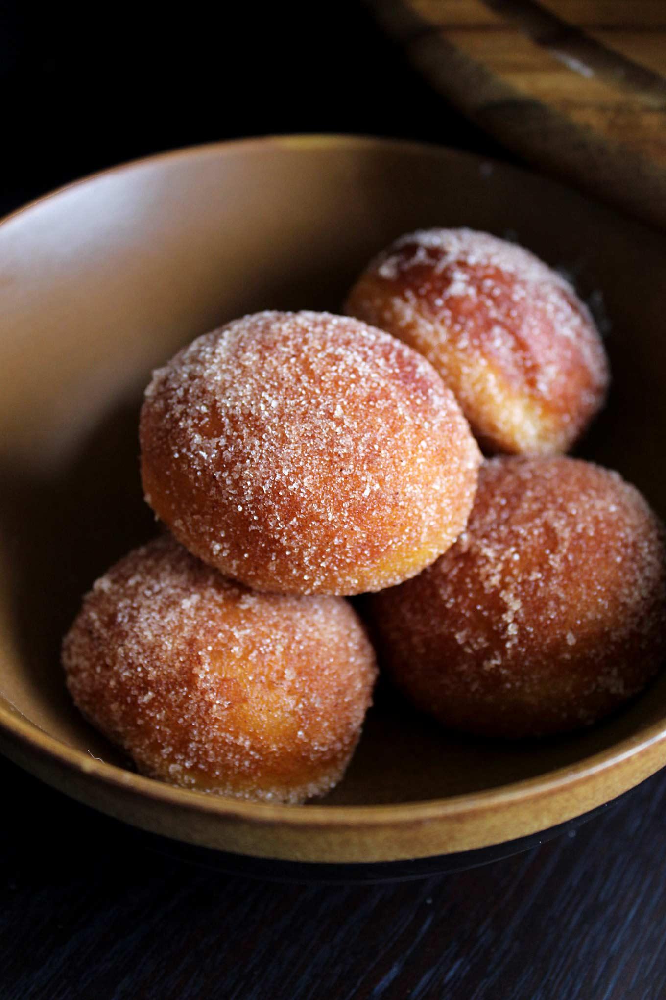 Chocolate Glazed Donuts & Cinnamon Sugar Donut Holes | wyldflour