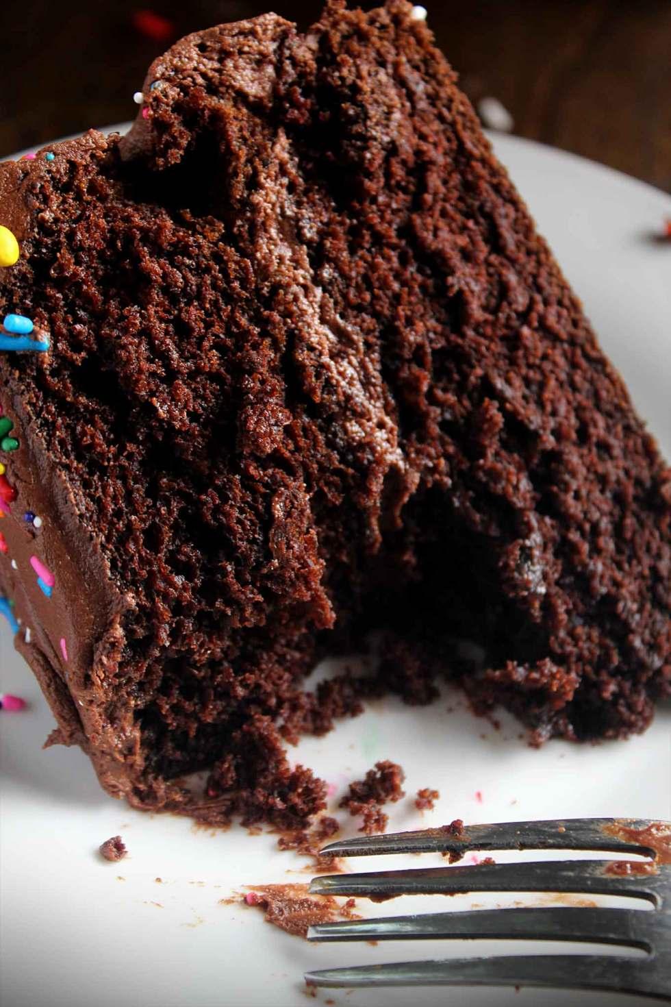 Easy Chocolate Birthday Cake | Sprinkles | Simple Recipe | Best Triple Chocolate Cake