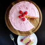 Lemon Cake with Raspberry Filling & Raspberry Buttercream