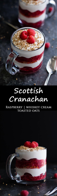 Cranachan | Scottish Dessert | Whiskey Cream | Raspberries | Toasted Oats | Recipe