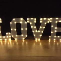 Chair Covers Wedding Yorkshire Accent Rocking Chairs Illuminated Light Up Letters & Initals From Wy Marquees