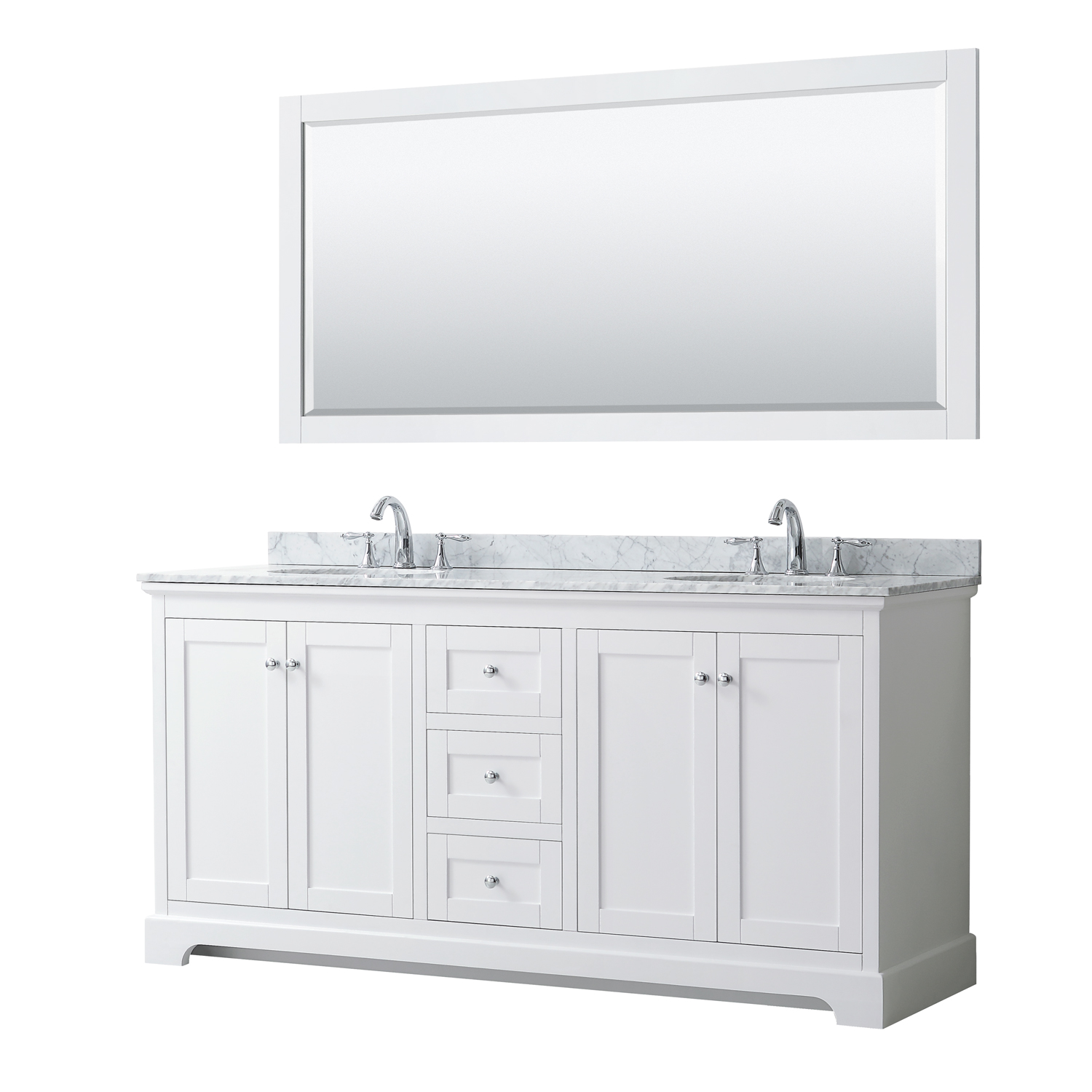 Avery 72 Double Bathroom Vanity White Beautiful Bathroom Furniture For Every Home Wyndham Collection
