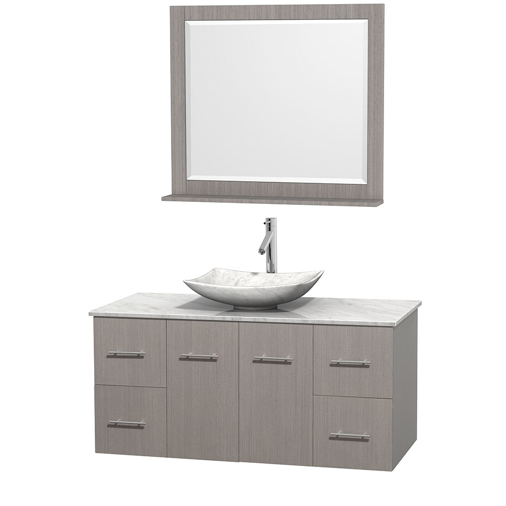 Centra 48 Single Bathroom Vanity For Vessel Sink Gray Oak Free Shipping Wyndham Collection