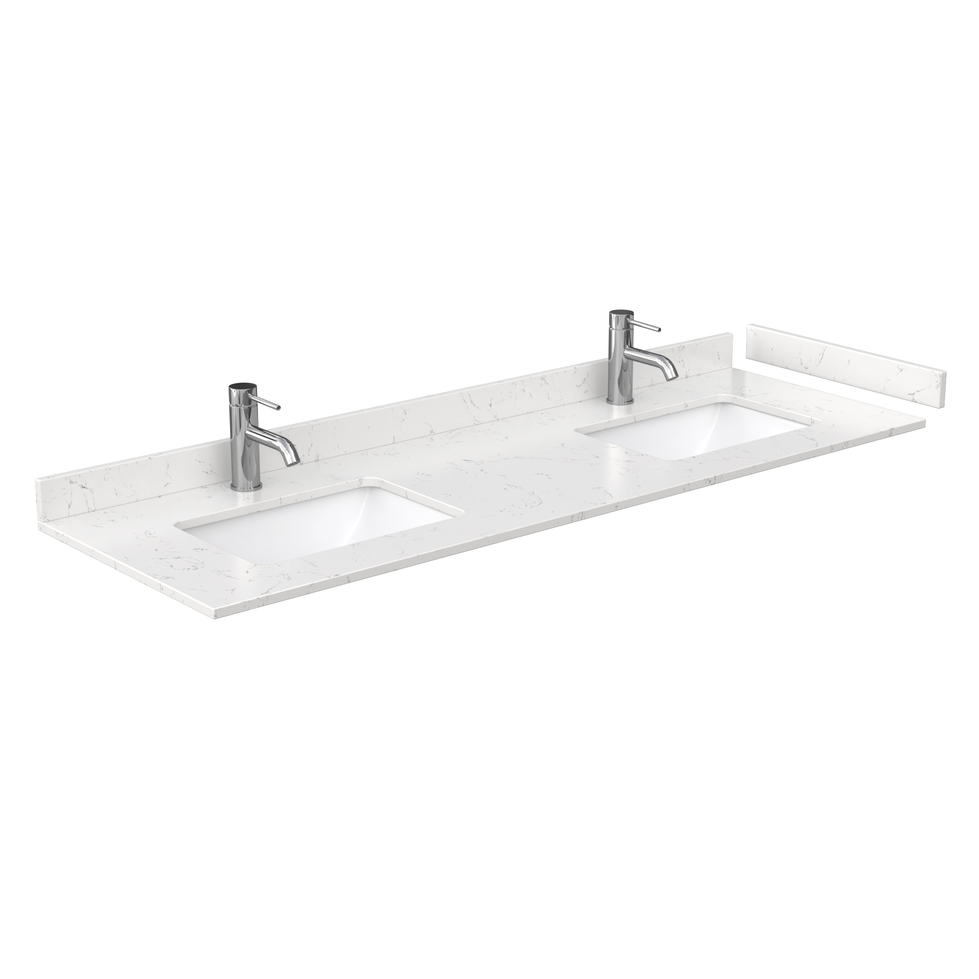 beckett 66 double bathroom vanity white