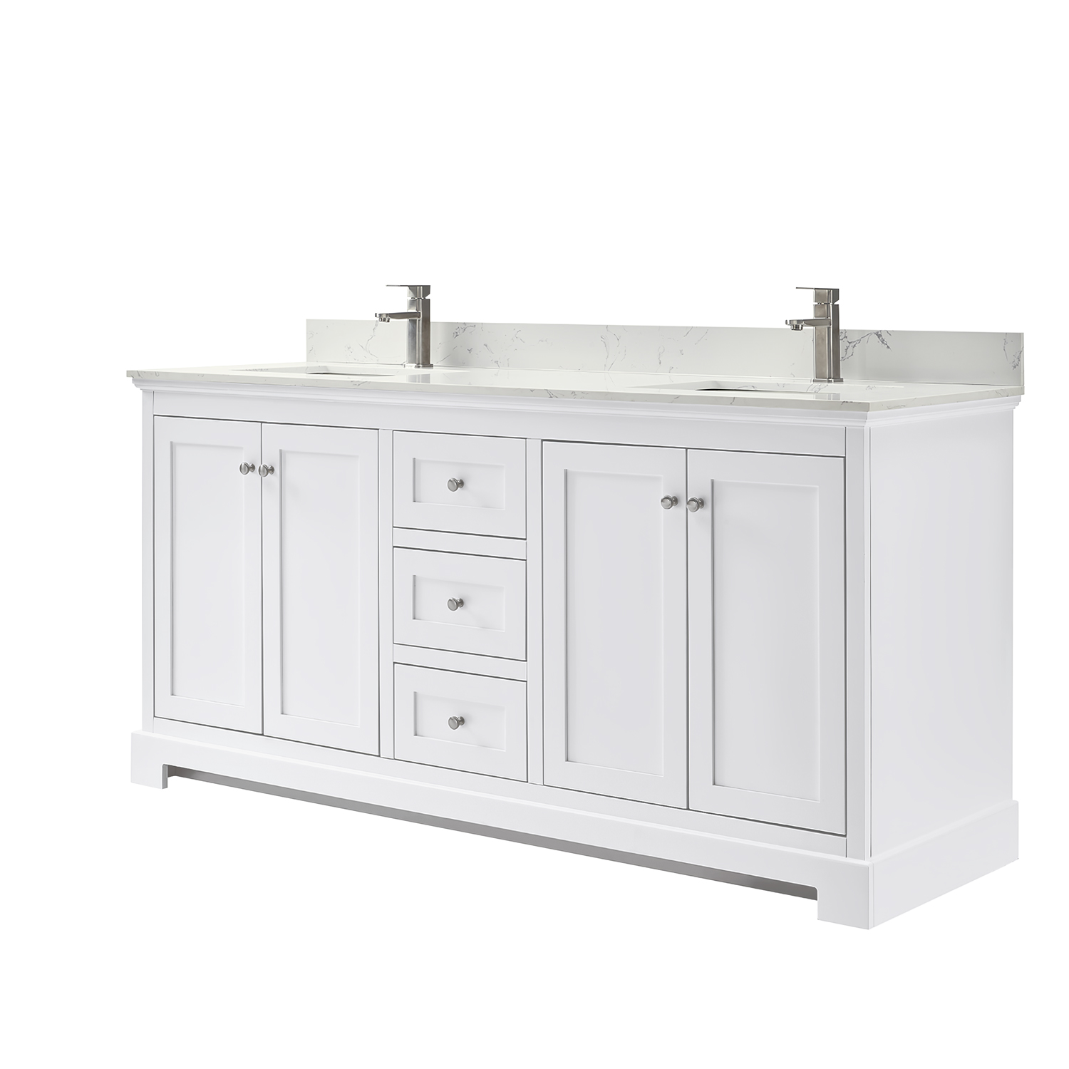 Ryla 72 Double Bathroom Vanity White Beautiful Bathroom Furniture For Every Home Wyndham Collection