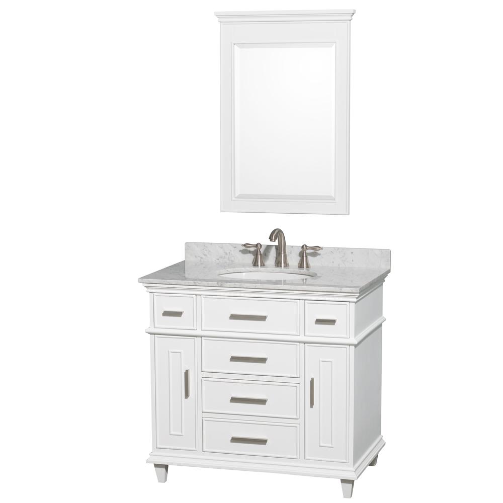 berkeley 36 single bathroom vanity white