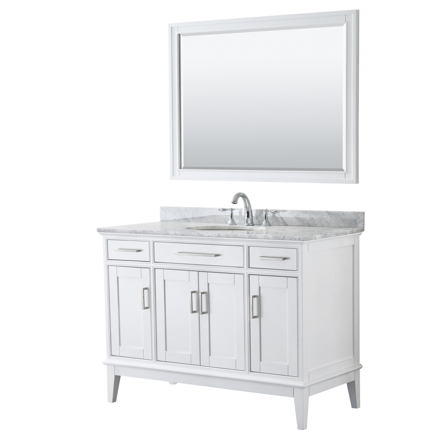 Margate 48 Single Bathroom Vanity White Beautiful Bathroom Furniture For Every Home Wyndham Collection