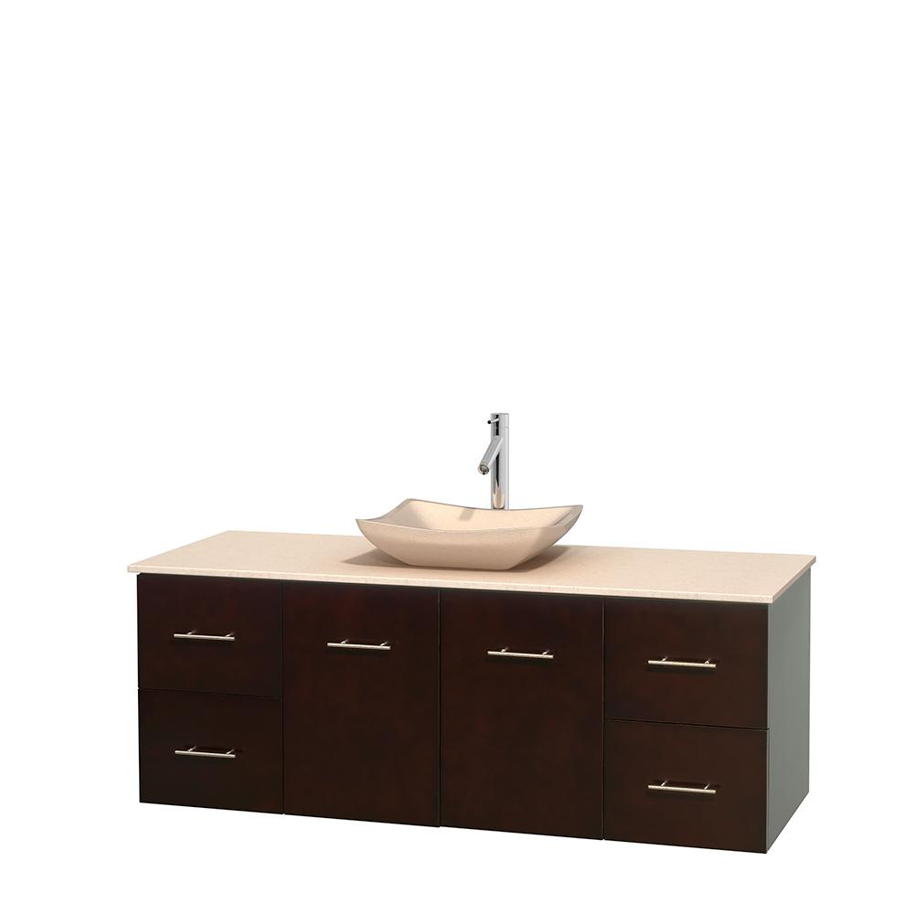 Centra 60 Single Bathroom Vanity For Vessel Sink Espresso Free Shipping Wyndham Collection