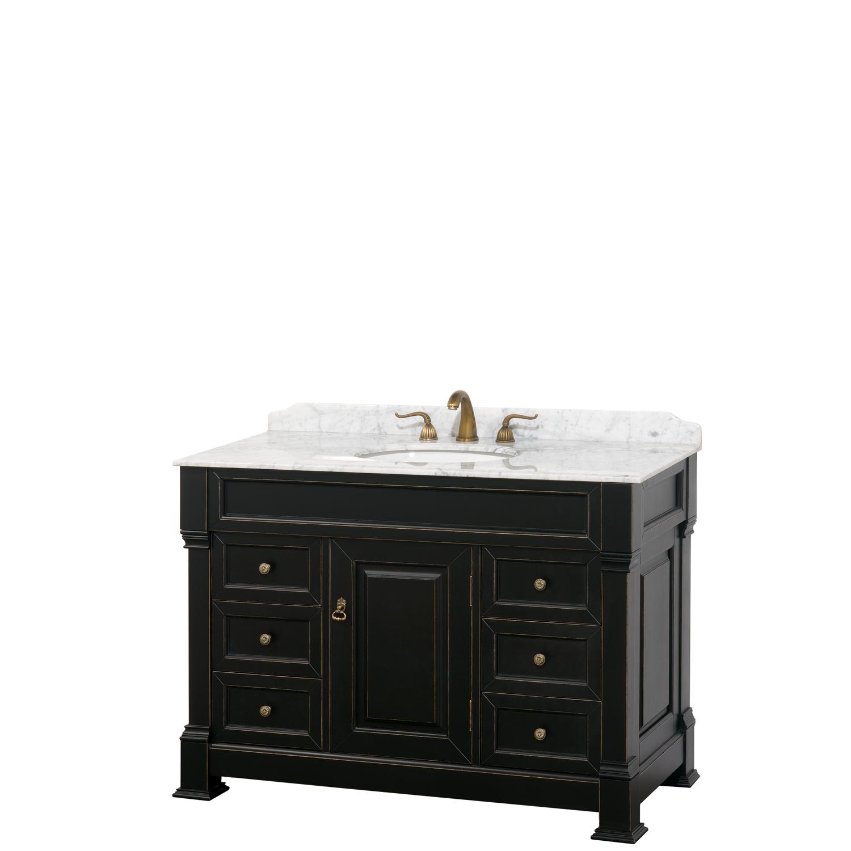 andover 48 traditional bathroom single vanity set black