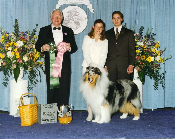 Ch. Wyndlair Blue Cherokee - Best Junior Handler