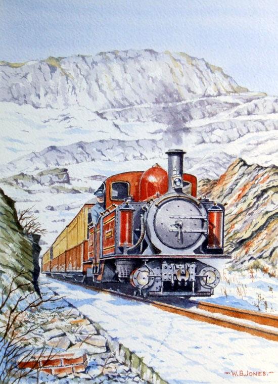 Railway paintings by Wynne B Jones Artist from North Wales