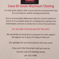 Casa Di Louie closes this weekend