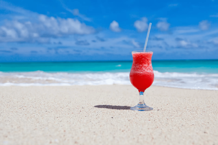 red beverage in a glass
