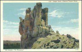 History in Teapot Rock, Wyoming.