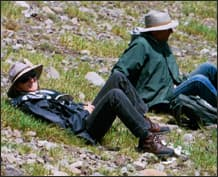 Taking a break in the Alpine Ridgeline of the Winds<br> Image courtesy of the Taylors