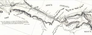 John Fremont's Map of 1842 Sweetwater Valley