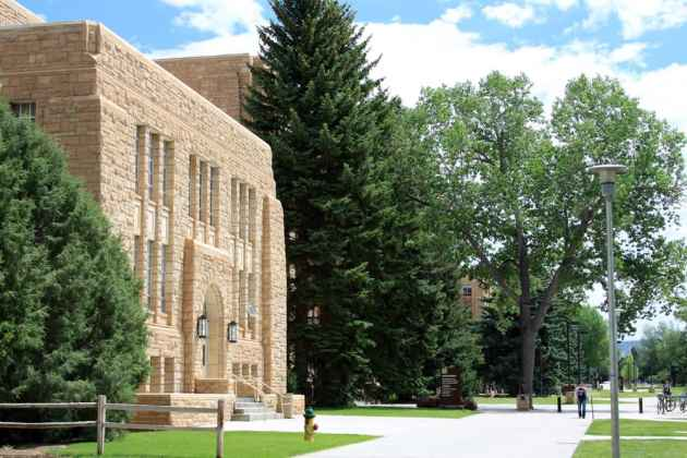 The Engineering Building at the University of Wyoming. The university recieved about $51 million in stimulus funds, which were spent on building maintenance and academic research. (Photo by Wyoming Jackrabbit/Flickr - click to enlarge)