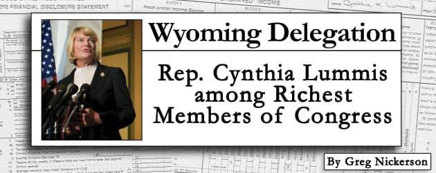 Wyoming Delegation: Rep. Cynthia Lummis among Richest Members of Congress